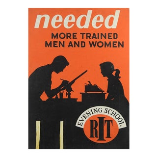 1950's Poster Technical School For Sale