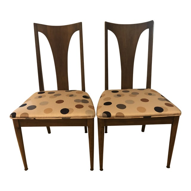 Mid Century Walnut Chairs by Lenoir - a Pair For Sale