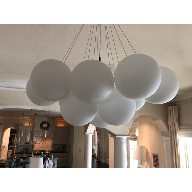New in box - Cielo 3 light chandelier in oil rubbed bronze by Diamond lighting. Adjustable height- each globe is...