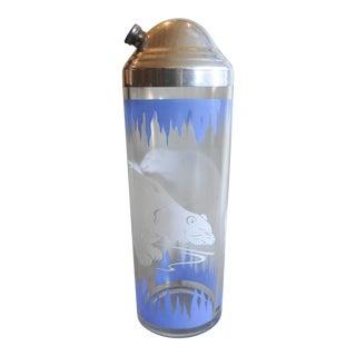 Vintage Hazel-Atlas Polar Bears Cocktail Shaker For Sale