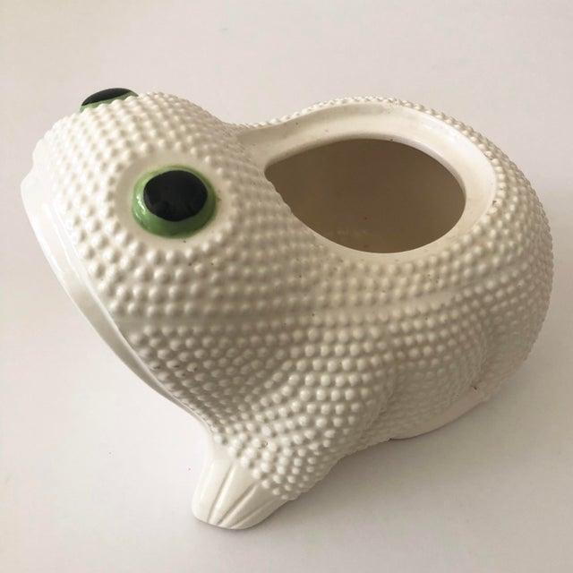 Vintage Ceramic Frog Planter For Sale - Image 4 of 11