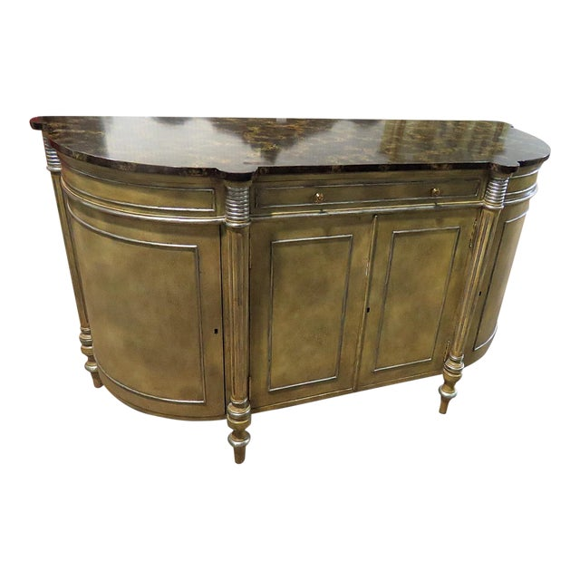 Maitland Smith Faux Marble Top Commode For Sale