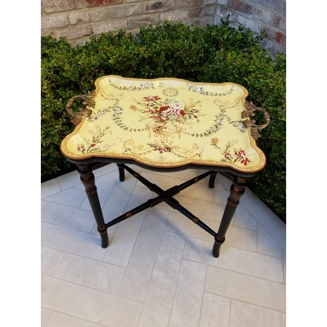Porcelain Tray Table For Sale - Image 9 of 9