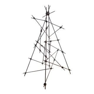 Ikebana Metal Framework Abstract Sculpture For Sale