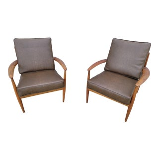Mid Century Danish Modern John Stuart Grete Jalk Lounge Chairs For Sale
