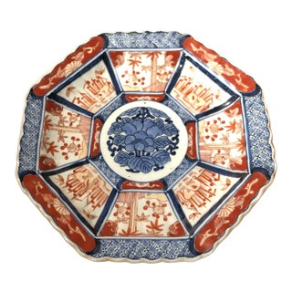 Antique Imari Scalloped Edge Plate For Sale