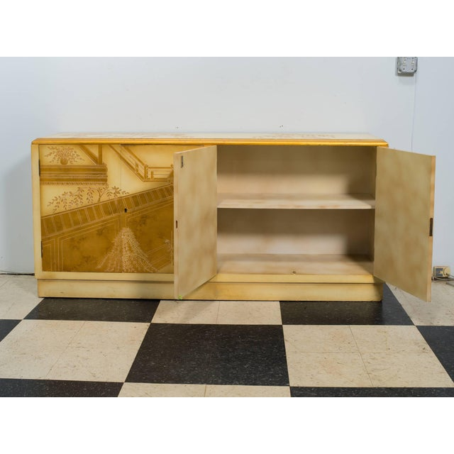 White Painted Chinoiserie Credenza For Sale - Image 8 of 10