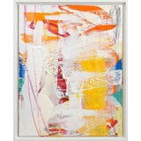 "Image of Lesley Grainger ""Rainbow Shadows No. 2"" Original Abstract Painting For Sale"