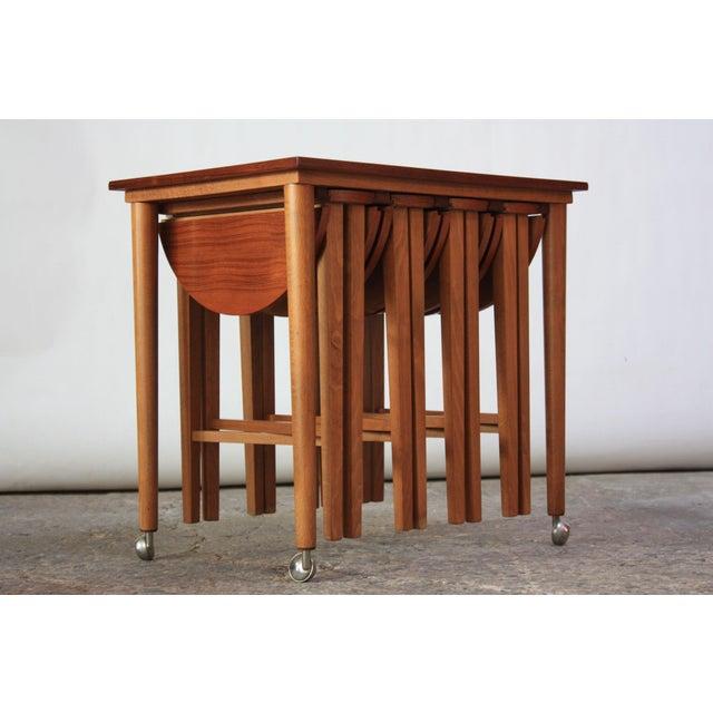 Set of Teak Serving Tables after Bertha Schaefer For Sale - Image 10 of 10