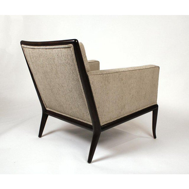 Lounge Chairs Designed by T.H. Robsjohn-Gibbings for Widdicomb, circa 1950s. Professionally refinished and reupholstered.