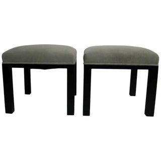 Pair of Ottomans by Michael Taylor for Baker For Sale
