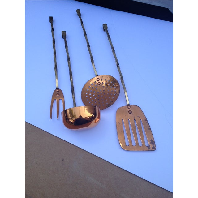 Brass & Copper Kitchen Utility Tools - Set of 4 - Image 2 of 5