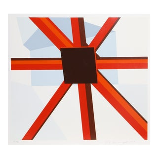 Squared Star, Pop Abstract Silkscreen by D'Arcangelo