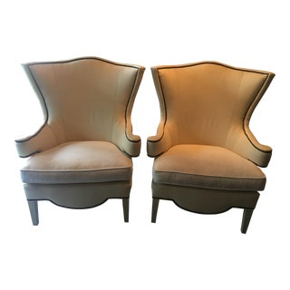 Drexel Heritage Upholstered Chairs - A Pair For Sale