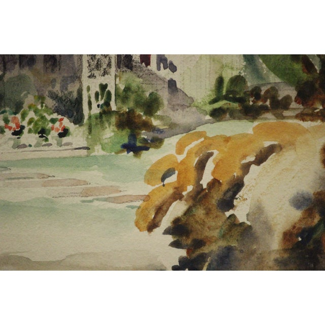 Summer Patio Watercolor Painting For Sale - Image 5 of 5