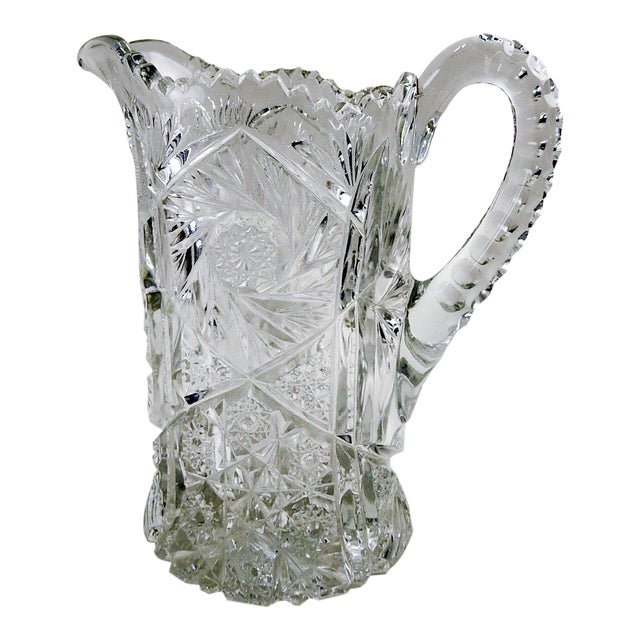 Antique Press Glass Pitcher For Sale
