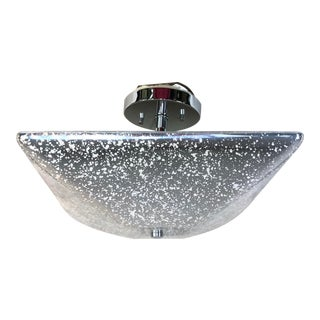 Justice Design Fusion 2-Light Semi-Flush Bowl Ceiling Light For Sale