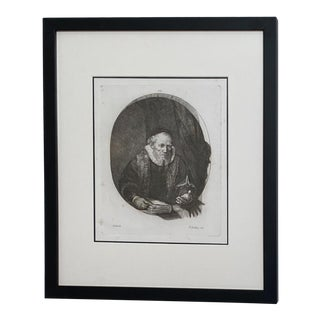 Late 18th Century Rembrandt Etching #30, by Francesco Novelli For Sale