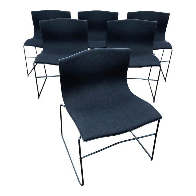 best service e9b5d 663f9 Set of 6 Knoll Dining Chairs by Massimo Vignelli