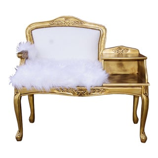 Vintage French Victorian Style Gossip Telephone Bench Settee For Sale