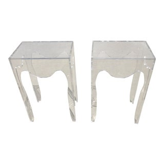 Lucite Side Tables / Nightstands - a Pair