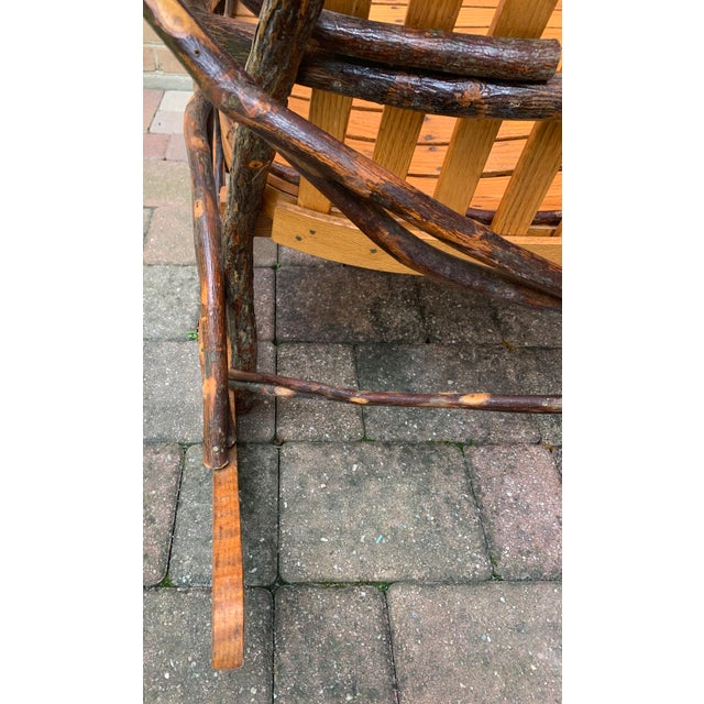 Bentwood and Twig Adirondack Double Vintage Rocking Chair For Sale - Image 11 of 13