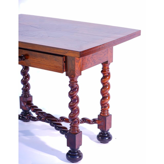 Rustic 19th C. Portuguese Rosewood Table For Sale - Image 3 of 5