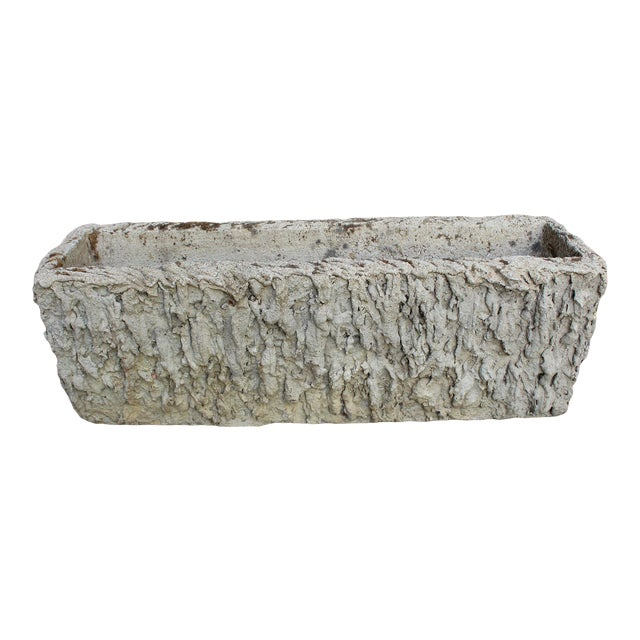 French Faux Bois Rectangular Planter For Sale
