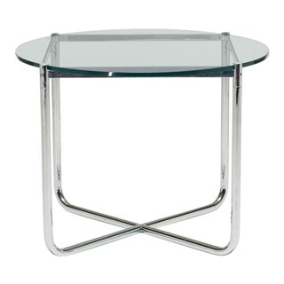 1980s Mid-Century Modern Knoll Ludwig Mies Van Der Rohe Side Table For Sale