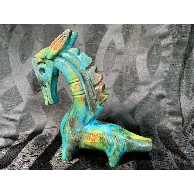 "1950s Vintage Alvino Bagni ""Sea Garden"" Italian Sea Horse Pottery Sculpture For Sale - Image 13 of 13"
