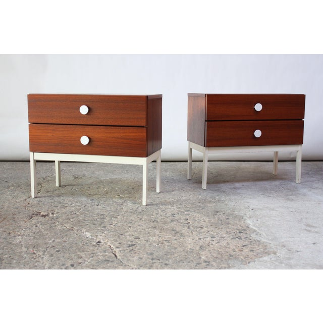 Pair of Danish Modern Teak 2-Drawer Nightstands - Image 4 of 9