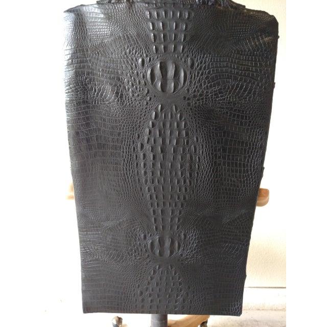 Black Lambskin Detroit Johnny Chair - Image 6 of 6