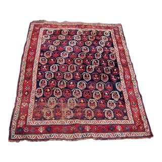 Early 20th Century Antique Handmade Afshar Oriental Rug - 4′1″ × 6′ Rr1720 For Sale