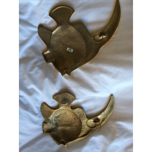 Vintage Brass Angel Fish - A Pair - Image 5 of 7