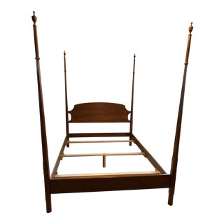 Stickley Cherry Queen Four Poster Bed With Canopy Rails For Sale
