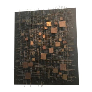 Abstract Modern Wall Sculpture by Curtis Jere For Sale