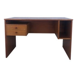 Danish Modern Teak Writing Desk With 2 Drawers For Sale