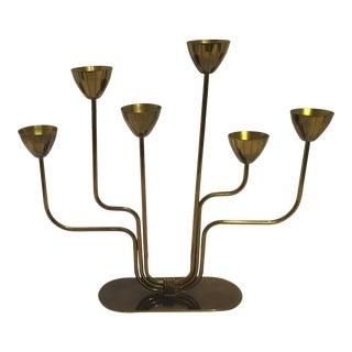 Swedish Brass Candelabra by Ystad-Metall 1950s For Sale