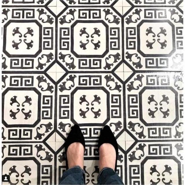 Celerie Kemble Gingko Ink Hardwood Tile - Sample Tile For Sale - Image 4 of 6