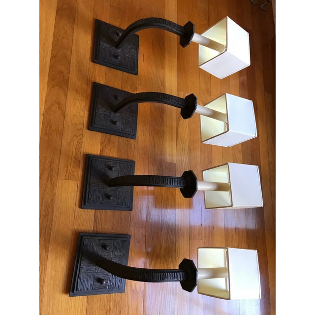White Paul Ferrante Wall Sconces - Set of 4 For Sale - Image 8 of 10