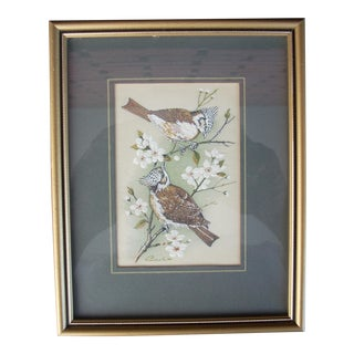 Vintage English Woven Silk Artwork For Sale