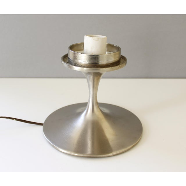 Laurel Studios Vintage Bill Curry for Laurel Mid Century Modern Chrome Mushroom Lamp For Sale - Image 4 of 7