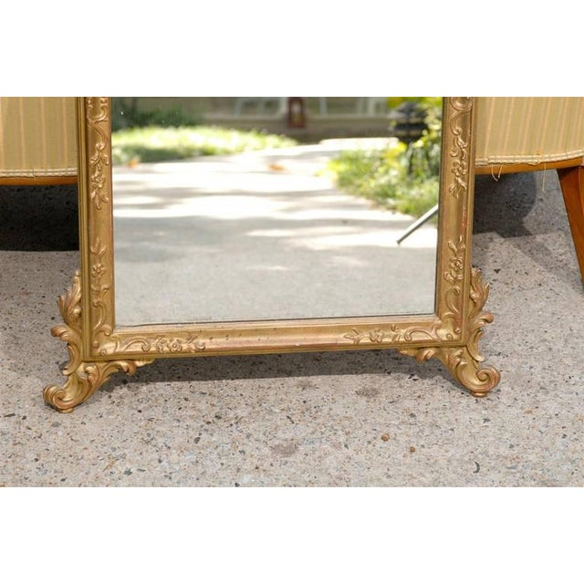 Italian Hand-Carved Rococo Gilt Mirror For Sale In Atlanta - Image 6 of 6