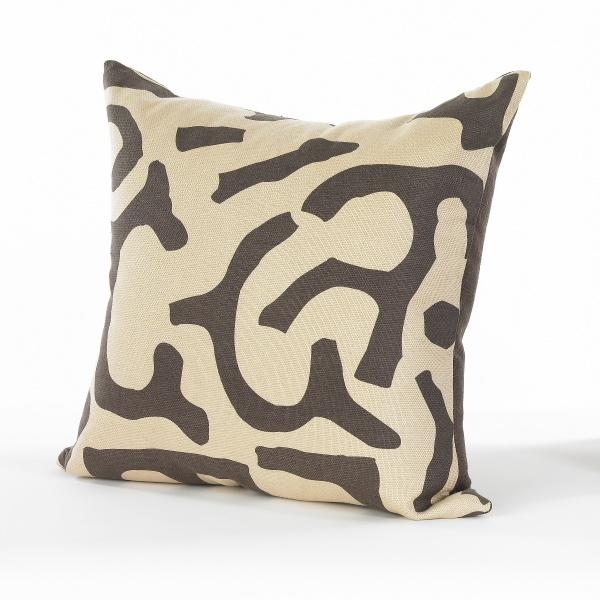 Chocolate and Wheat Pillow - Image 2 of 3