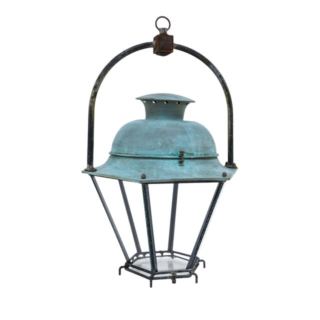Large Copper French Lantern For Sale