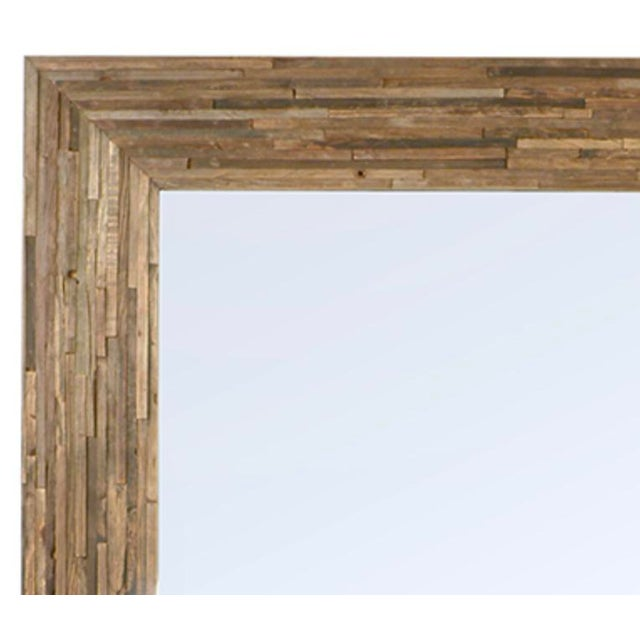 Unique Large Mirror With Hand Crafted Frame Made Up Of Reclaimed Wood Pieces Each Modern Full Length