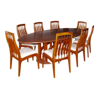 1990s Vintage Randy Bader Handmade Craftsman Dining Set- 9 Pieces For Sale