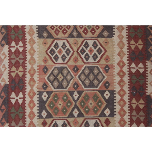 """Hand Knotted Maimana Kilim by Aara Rugs - 6'5"""" x 4'11"""" For Sale - Image 5 of 6"""