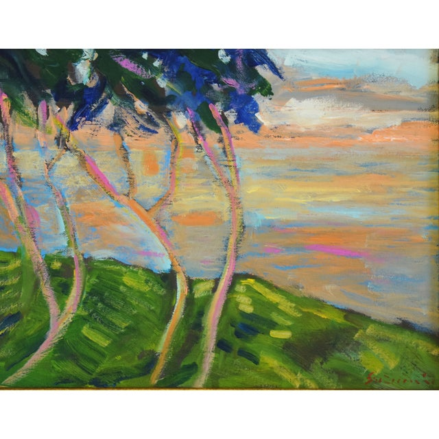 Abstract Juan Guzman Plein Air Landscape Painting For Sale - Image 3 of 10
