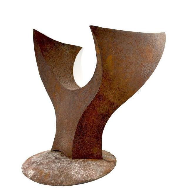Impressive Brutalist sculpture by noted sculptor Jack Hemenway. Made of welded steel, in original rust finish, suitable...